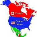 Mapa topográfico de América del norte