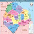 Mapa de las comunas de Capital Federal