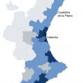 Mapa demográfico de Valencia