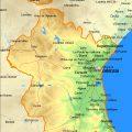 Mapa físico de Valencia