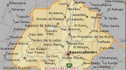 Mapa fisico de Aguascalientes
