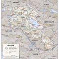 Mapa fisico de Armenia