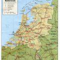 Mapa fisico de Holanda