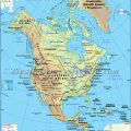 Mapa geografico de America del norte