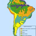 Mapa geografico de America del sur
