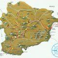 Mapa geografico de Andorra