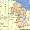Mapa geografico de Guyana