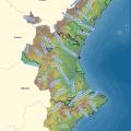 Mapa hidrográfico de Valencia