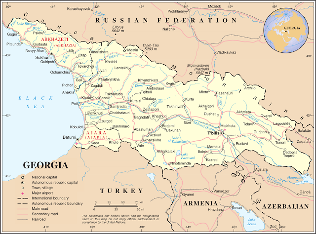 Mapa De Georgia Mapa Físico Geográfico Político Turístico Y - Mapa de georgia