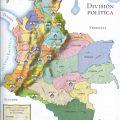 Mapa politico de Colombia con sus limites