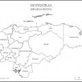 Mapa politico de Honduras para colorear