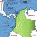 Mapa tematico de Colombia con sus limites