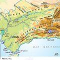 Mapa topográfico de Andalucia