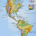Mapa topografico de America con nombres
