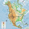 Mapa topografico de America del norte
