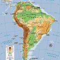 Mapa topografico de America del sur