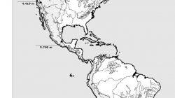 Mapas de America para colorear