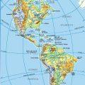 Mapa topografico de America politico
