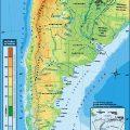 Mapa topografico de Argentina