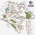 Mapa turístico de Chiapas