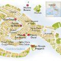 Mapa turístico de Venecia