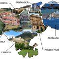 Mapa turistico de Cantabria