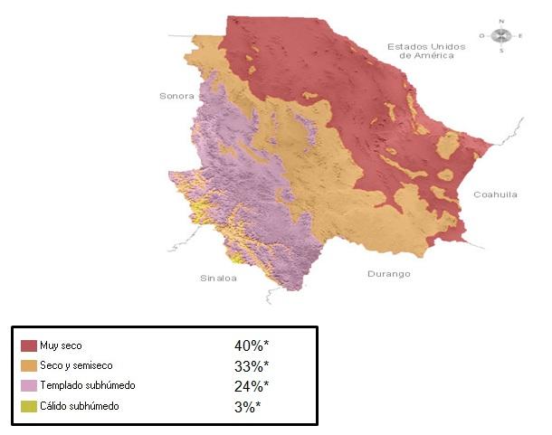 Mapa de Chihuahua  Mapa Fsico Geogrfico Poltico turstico y