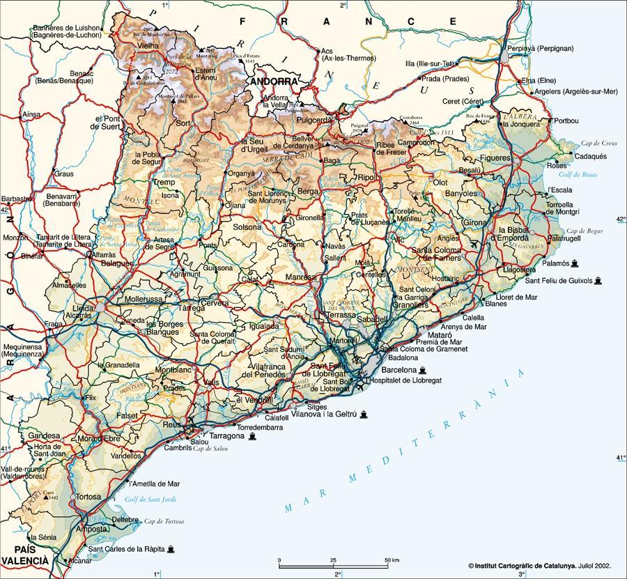 Resultado de imagen de mapa de cataluña