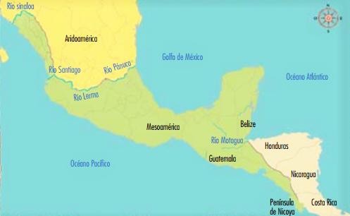 Mapa de Mesoamrica  Mapa Fsico Geogrfico Poltico turstico