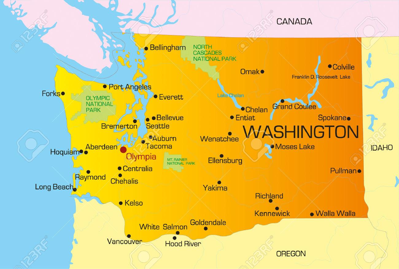Us Map Washington State - Us map washington state