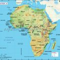 mapa fisico de africa