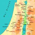 mapa fisico de palestina