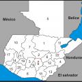 mapa geografico de guatemala para colorear