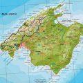 mapa geografico de mallorca