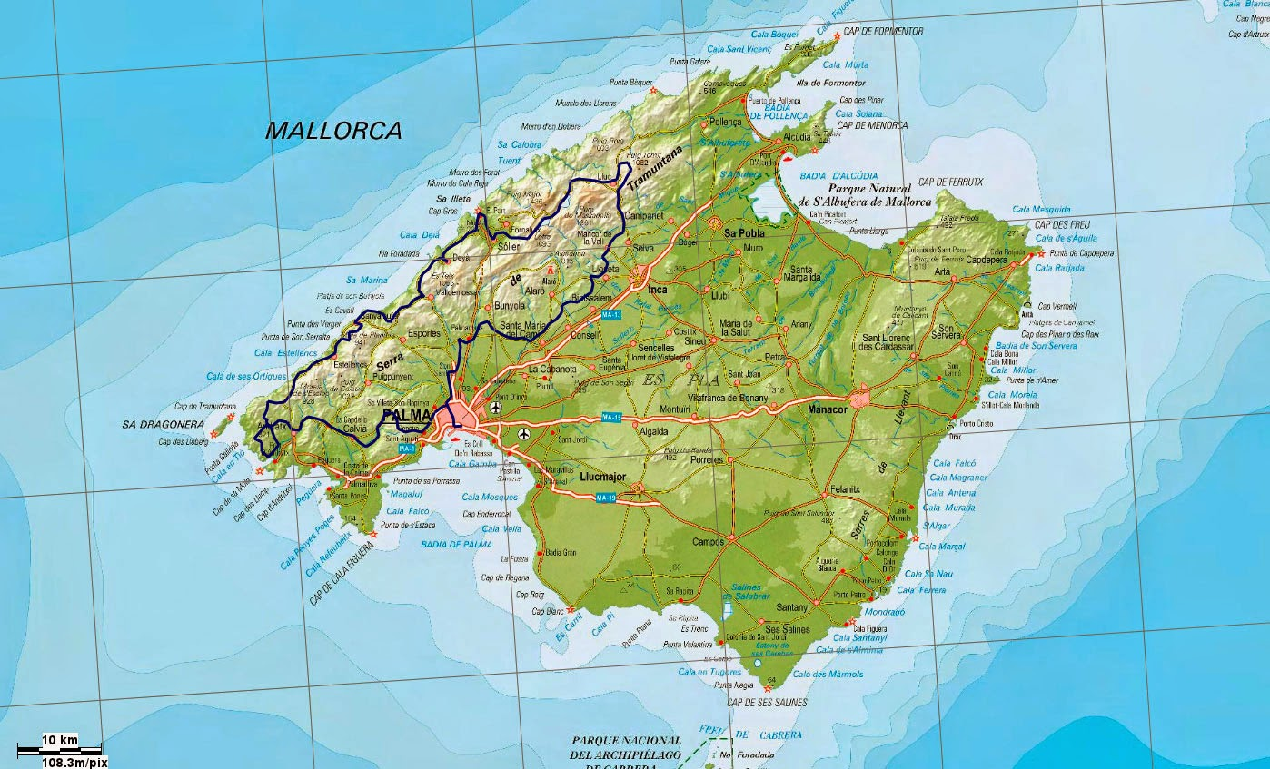 Mapa politico mallorca my blog - Islas de baleares ...