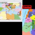 mapa geografico de palestina