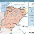 mapa politico de Corrientes