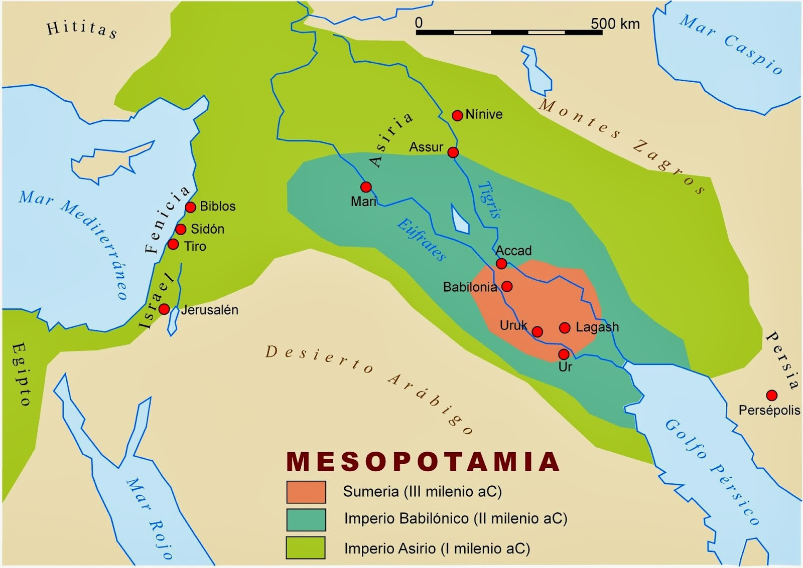 Mapa de mesopotamia mapa f sico geogr fico pol tico - Donde estudiar pintura ...