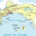 mapa politico de panama