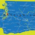 mapa politico de washington