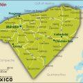 mapa politico de yucatan