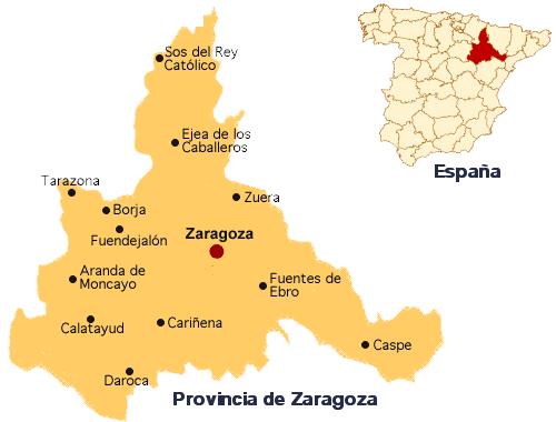 Mapa de zaragoza mapa f sico geogr fico pol tico for Donde esta la comunidad de madrid