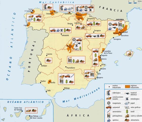 Mapa de Espaa  Mapa Fsico Geogrfico Poltico turstico y