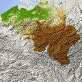 mapa topografico de belgica