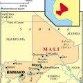 mapa topografico de mali