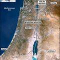 mapa topografico de palestina