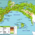 mapa topografico de panama