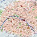 mapa turistico de paris