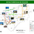 mapa turistico de yucatan