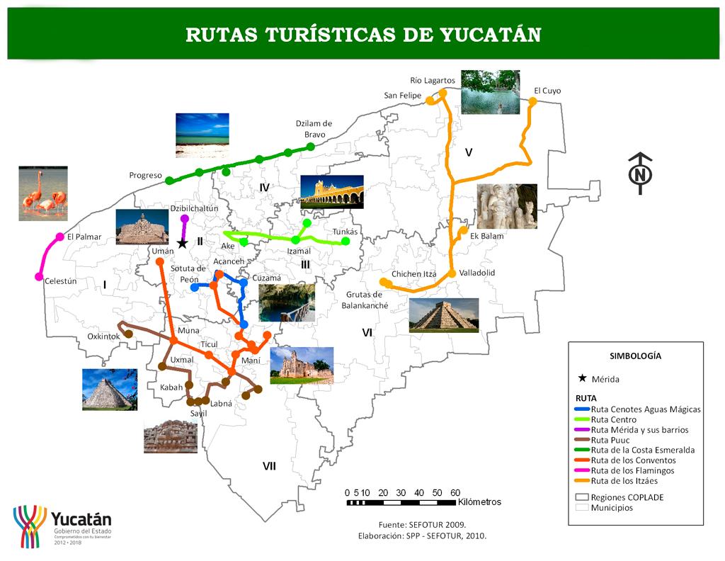 Mapa de Yucatan  Mapa Fsico Geogrfico Poltico turstico y